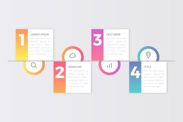 Stappen infographics ontwerp