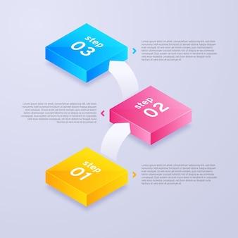 Stappen inforgrafisch concept