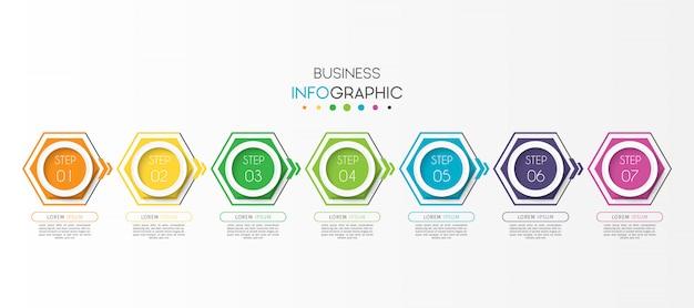 Stappen of opties tijdlijn grafiek infographic element