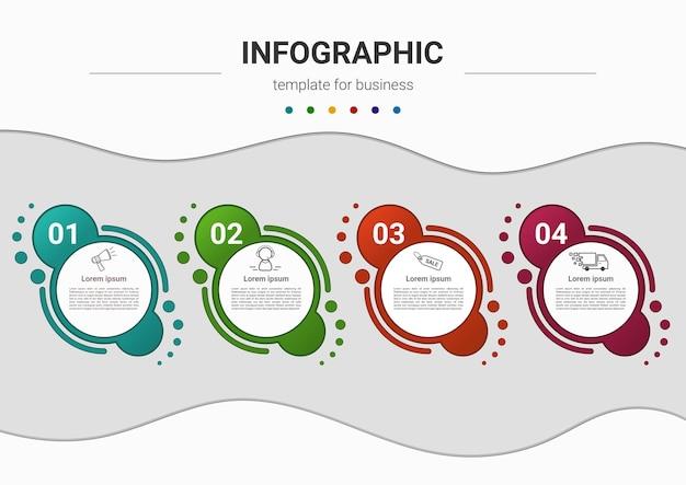 Stappen tijdlijn bedrijfsproces infographics element sjabloonontwerp Premium Vector