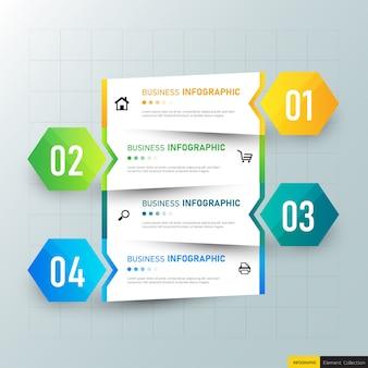 Stappen tijdlijn infographic ontwerp.