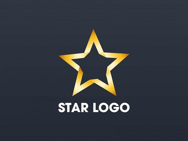 Star gouden logo sjabloon.