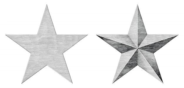Star hand tekenen vintage stijl zwart en wit