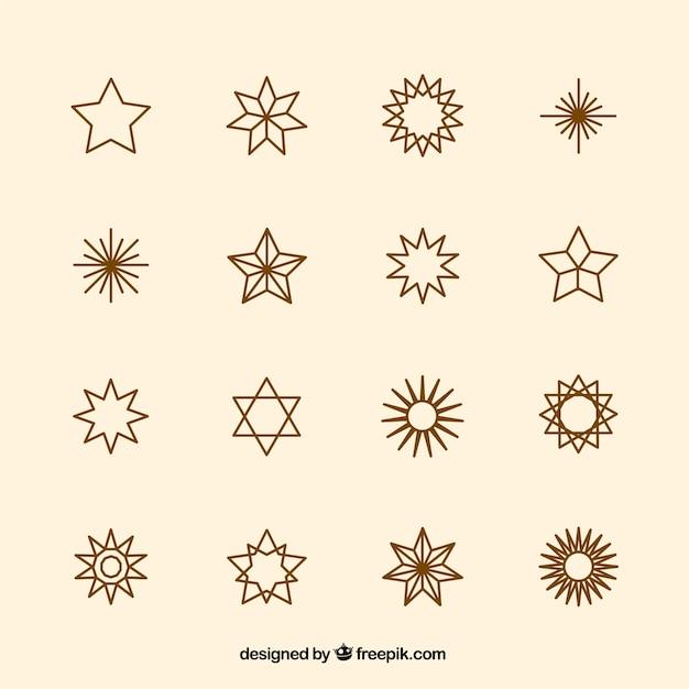 Star iconen collectie
