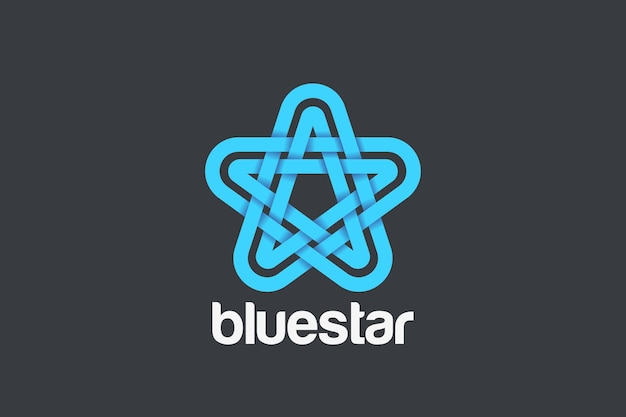 Star logo abstract ontwerp. lineaire lintstijl