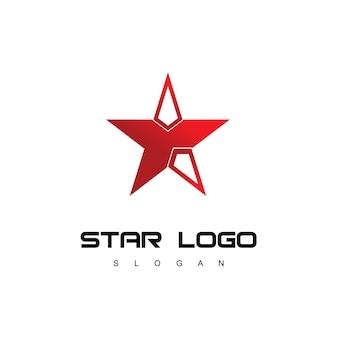 Star logo sjabloon succes bedrijf symbool