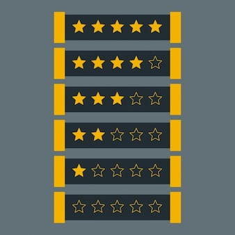 Star rating in donkere thema