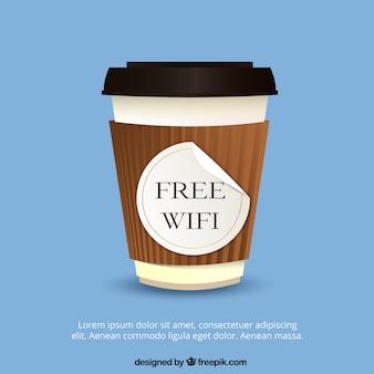 Starbucks achtergrond met wifi