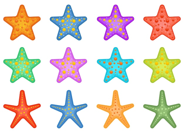 Starfish pack ontwerp illustratie geïsoleerd