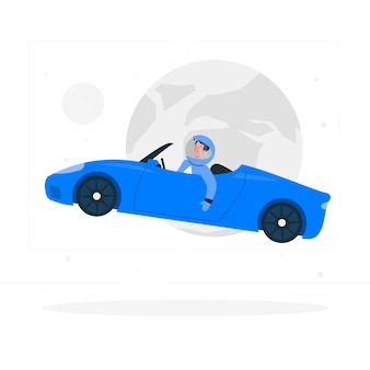 Starman concept illustratie