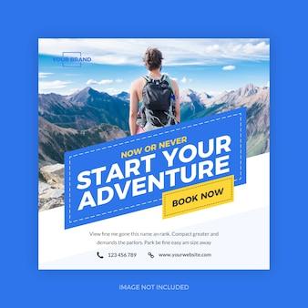 Start adventure reizen instagram banner