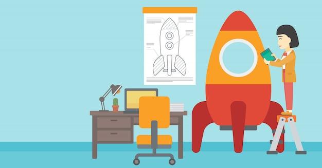 Start bedrijfs vectorillustratie.