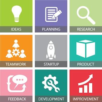 Start bedrijfsconcept. vector illustratie