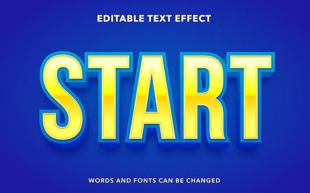Start de bewerkbare teksteffectstijl