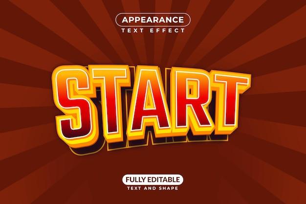 Start het teksteffect van het spel