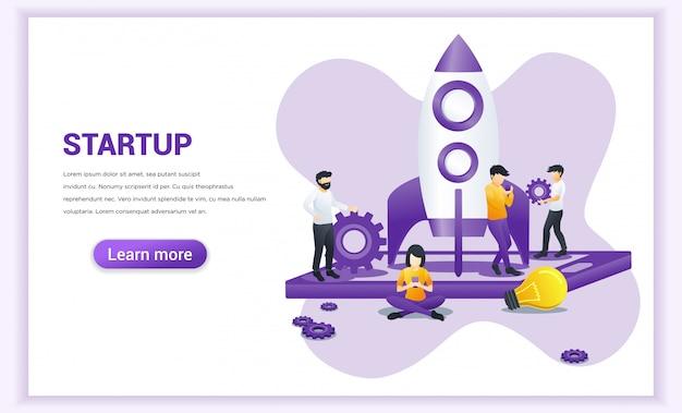Start project-concept voor mobiele ontwikkeling.