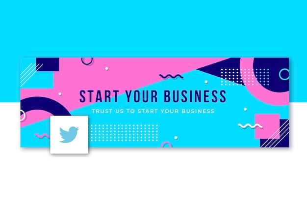 Start uw zakelijke twitter-omslagsjabloon