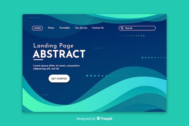 Startende abstracte turquoise landingspagina