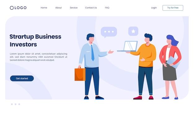 Startende bedrijfsinvesteerders bestemmingspagina-website