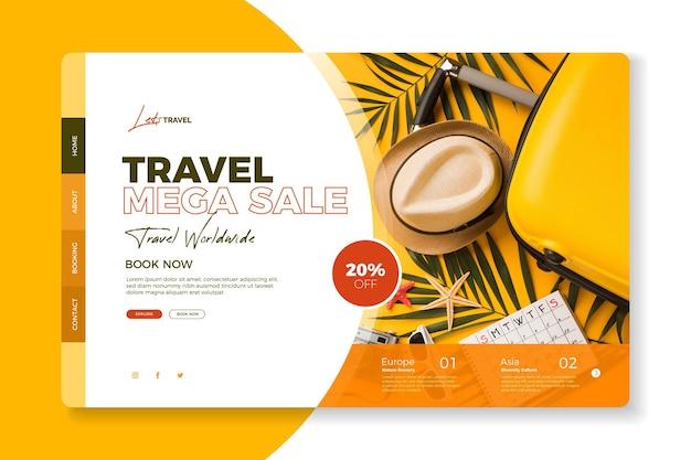 Startpagina voor reisverkoop