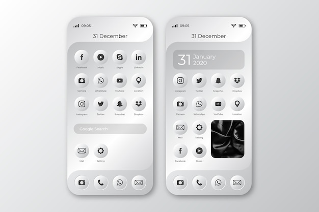 Startscherm van smartphone