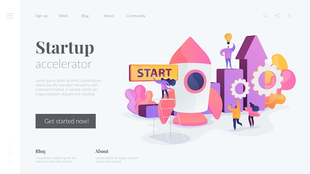 Startup accelerator-bestemmingspagina