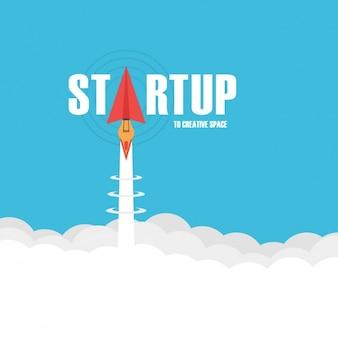 Startup achtergrond ontwerp