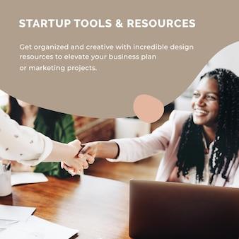Startup-bedrijfssjabloon voor post op sociale media