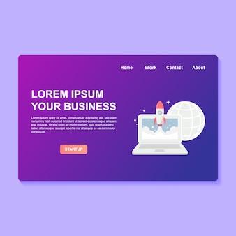 Startup business webdesign