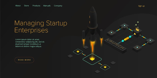 Startup coaching en mentorschap concept in isometrische illustratie.