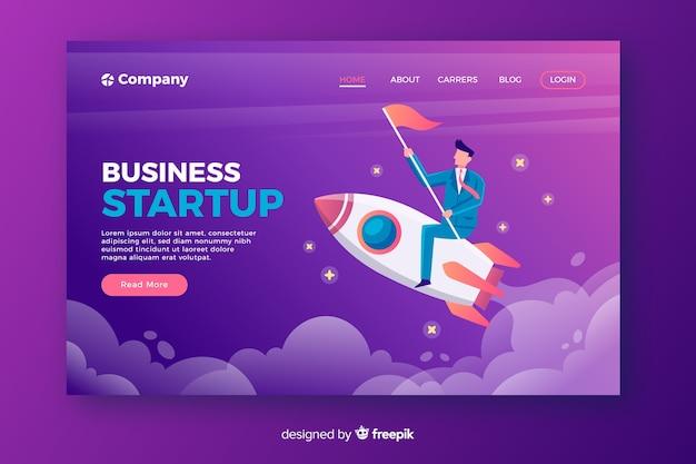 Startup raket bestemmingspagina