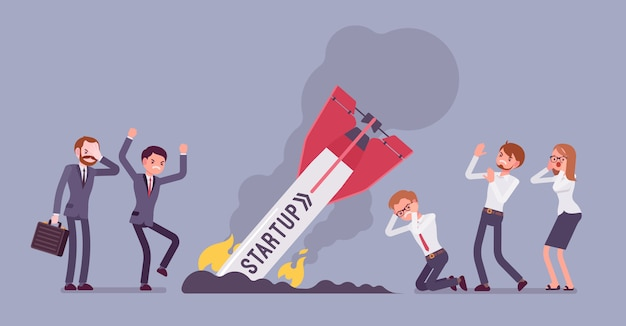 Startup raketcrash
