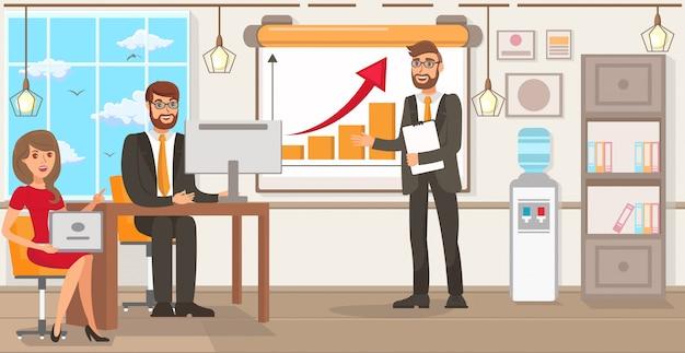Startup-technologie. vector vlakke afbeelding.