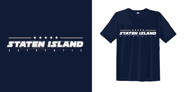 Staten island authentiek stijlvol t-shirtontwerp
