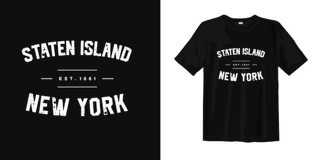 Staten island new york. t-shirt ontwerp urban style slijtage