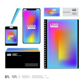 Statinery ontwerpsjabloon voor evenement en kantoor
