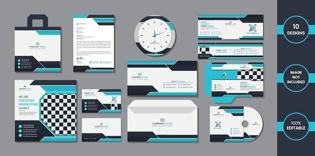 Stationair ontwerp met eenvoudige gradiëntvormen in blauw en diep cyaan.