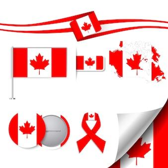 Stationery collectie met de vlag van canada design