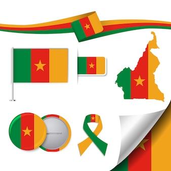 Stationery elementen collectie met de vlag van camerron design