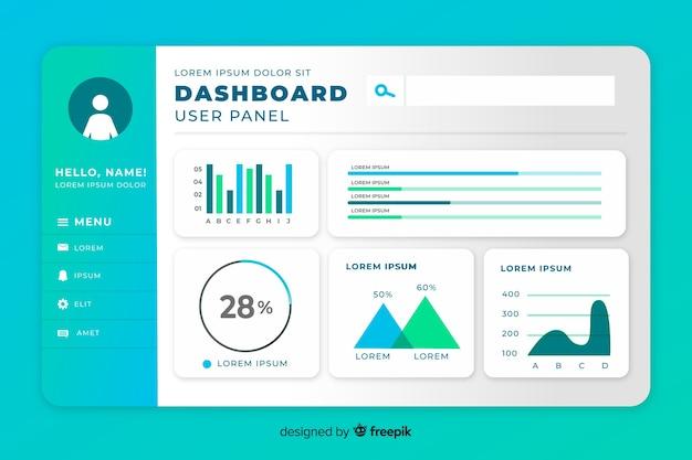 Statistiek set elementen dashboard sjabloon