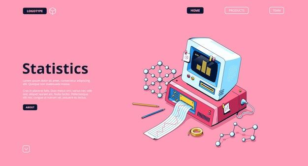 Statistieken banner. dienst voor data-analyse en onderzoek, statistische informatie.