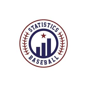 Statistieken baseball team manager logo ontwerp