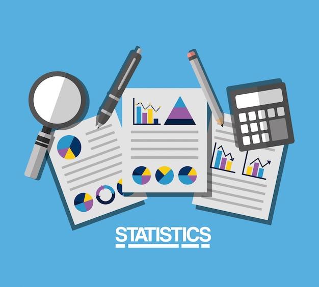 Statistieken gegevens zakelijke illustratie