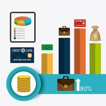 Statistieken over zakelijke groei en geldbesparingen