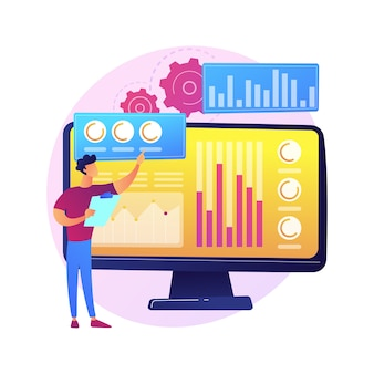 Statistisch gegevensonderzoek, prestatie-indicatoren van het bedrijf, rendement op investering. verhoudingspercentage, fluctuatie van indexen, significante verandering.