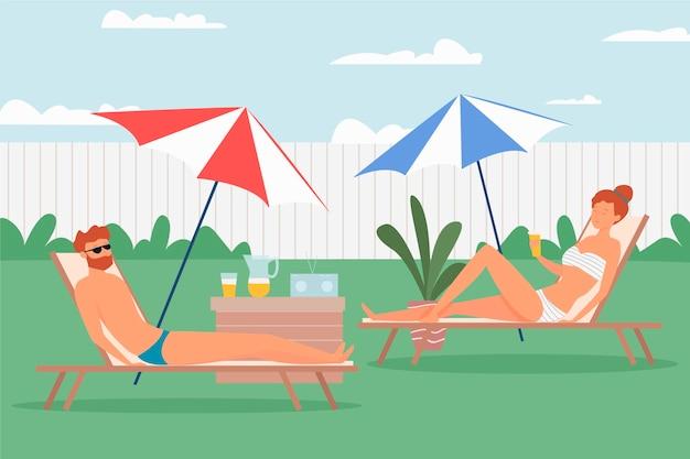 Staycation in het thema van de achtertuin