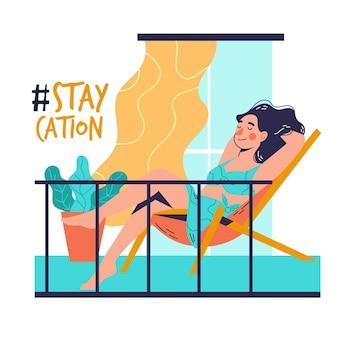 Staycation thuis balkon
