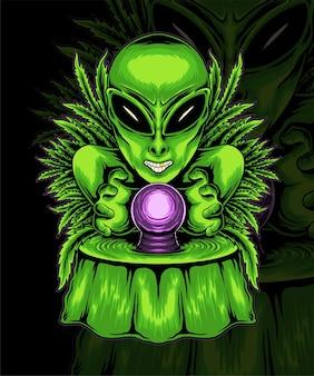 Stayhigh aliens vector illustratie