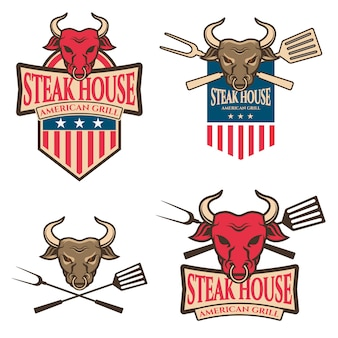 Steak house labels