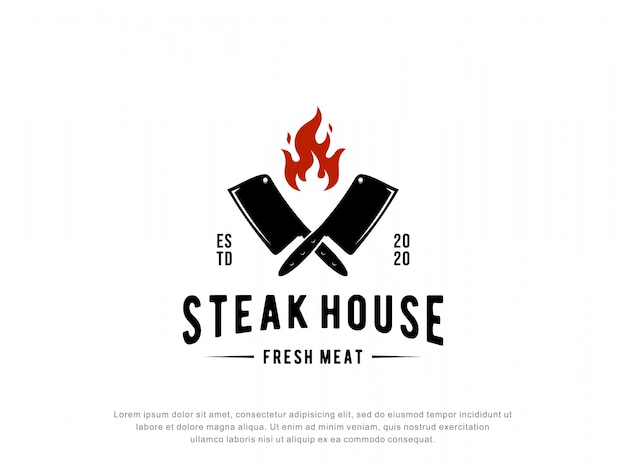 Steak house logo inspiratie